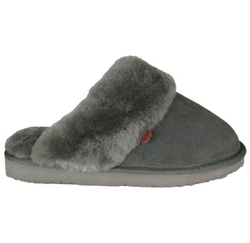 Warmbat Ladies Slipper Classic Suede Dark Grey