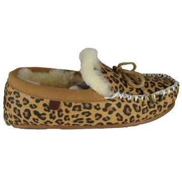 Warmbat Ladies Mocassin Print Chestnut