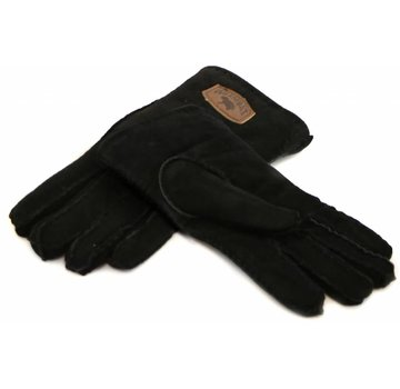 Warmbat Handschoen Black Suede Women