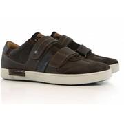 Australian Sneakers Klittenband Darkbrown Blue