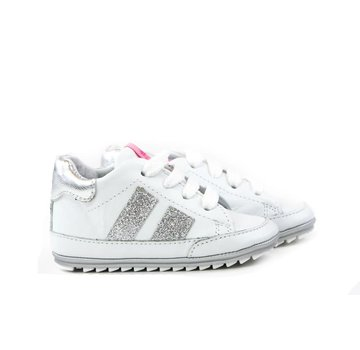 Shoesme Babyproof Veter Blanco Silver