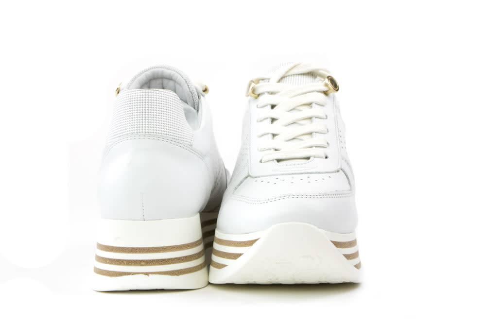 055923f9eb4 Via Vai Sneaker Mila Spot Vitello Bianco Platino - Steenbergen ...