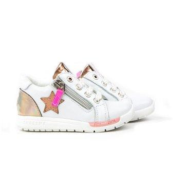 Shoesme Run Flex Sneaker Ster White Rosé
