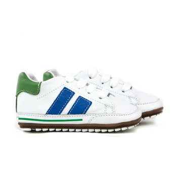 Shoesme Babyproof Veter Blanco Cobalt Green