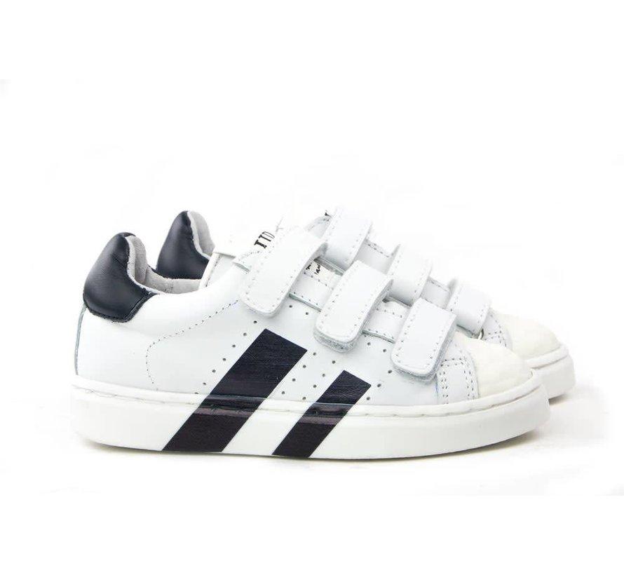 Sneaker Klittenband White Darkblue