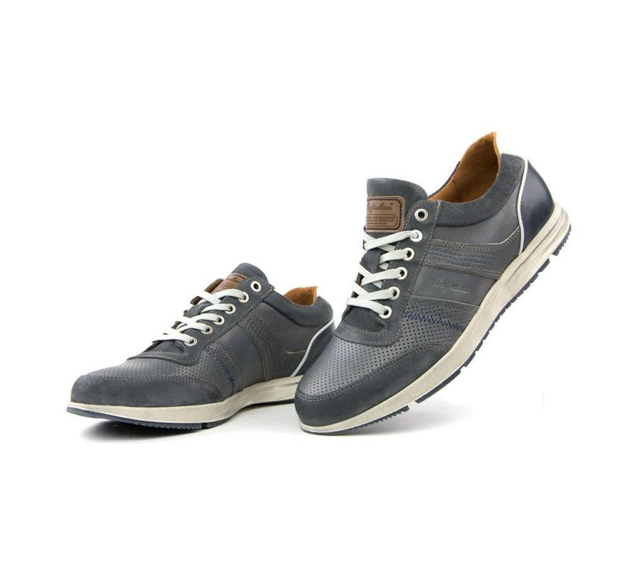 Sneaker Grant Leather Grey-Blue White