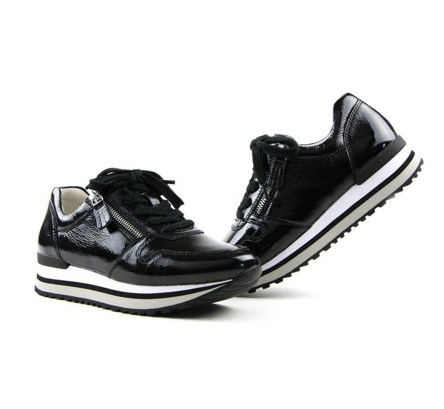 e20067375d0d5c Gabor Sneaker Taipei Lack Schwarz - Steenbergen Schoenen Rijssen