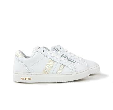 HIP Sneaker White Parelmoer Print