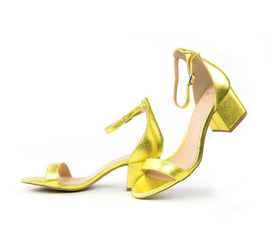Irin Sandal Metallic Yellow