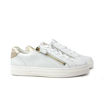 Hassia Sneaker Foulardcalf Weiss Platin