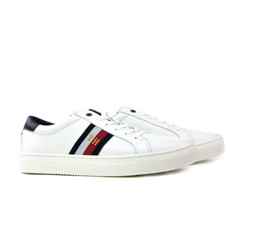 Tommy Hilfiger Corporate Leather Detail Sneaker White