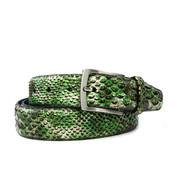 Floris van Bommel Riem Snake Patent Green