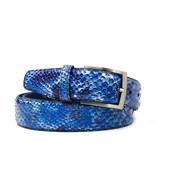 Floris van Bommel Riem Snake Patent Blue