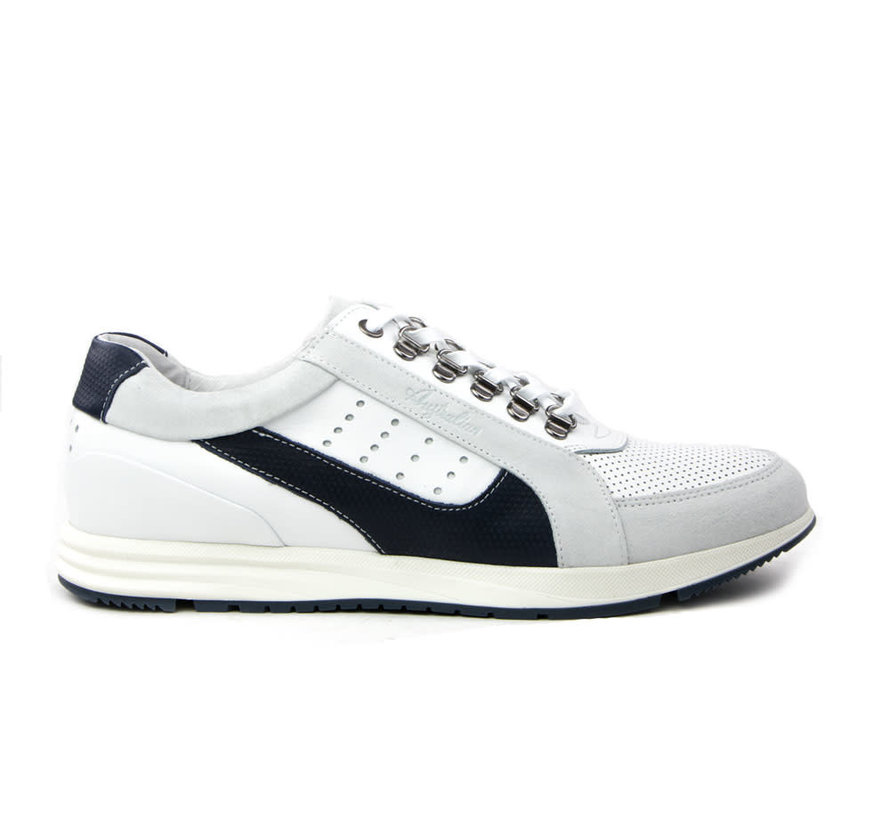 Sneaker Gregory Leather White-Navy