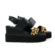 SPM Yosca Sandal Black Leopard
