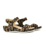 Durea Sandaal Sleehak Zand Zebra