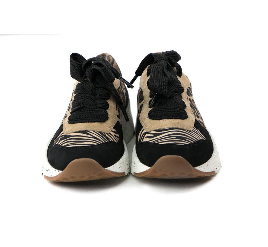 Sneaker Leopardino Black Camel
