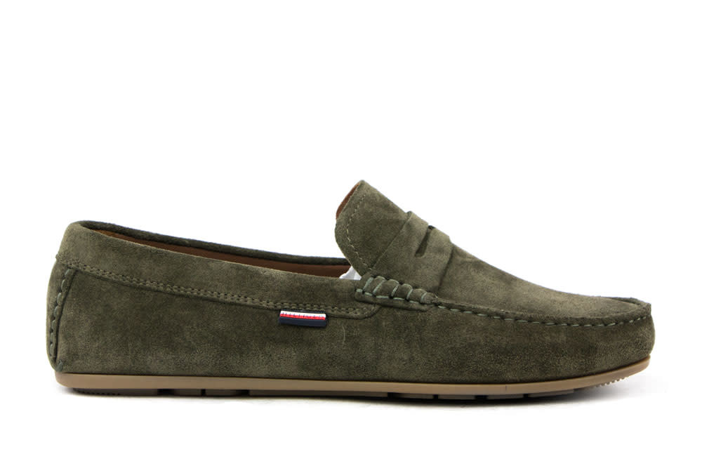Tommy Hilfiger Classic Suede Penny Loafer Army Green