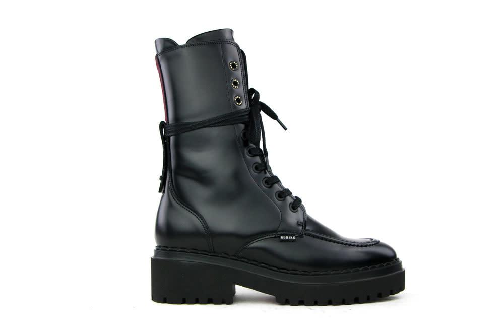Nubikk Fae Aubine Black Mirror Leather
