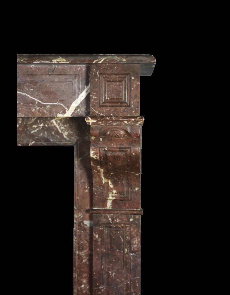 Pequeño Belga Antiguo Chimenea De Mármol Marrón