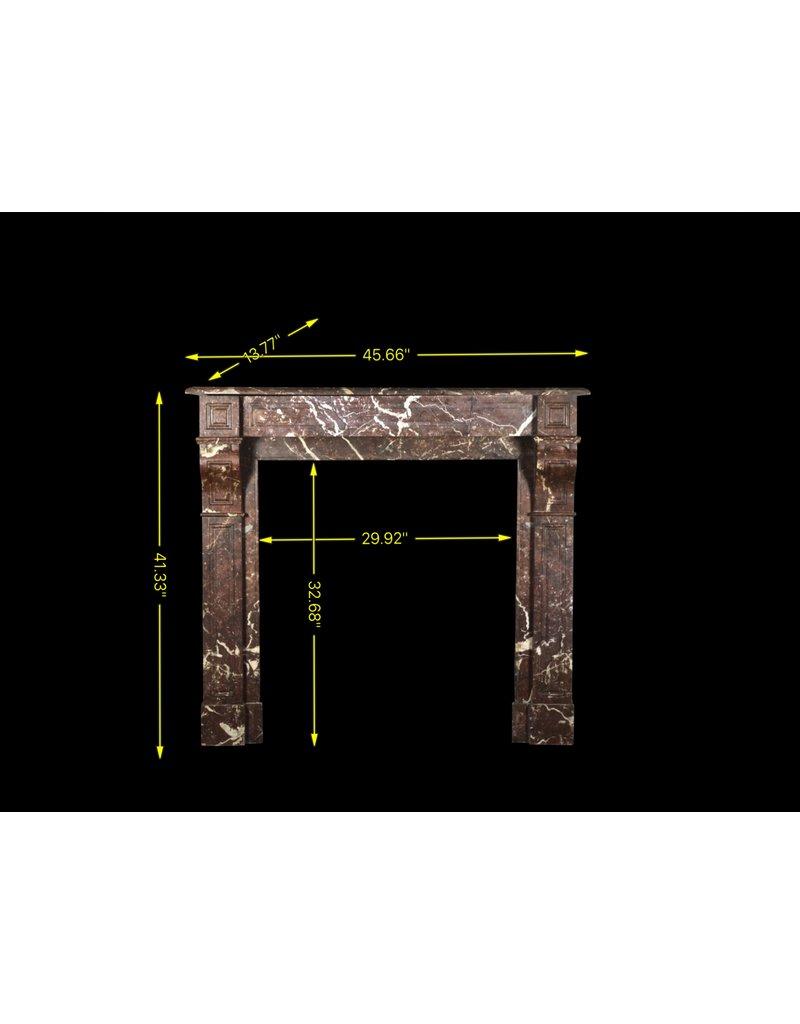Kleine Belgische Antike Kaminmaske In Braunem Marmor