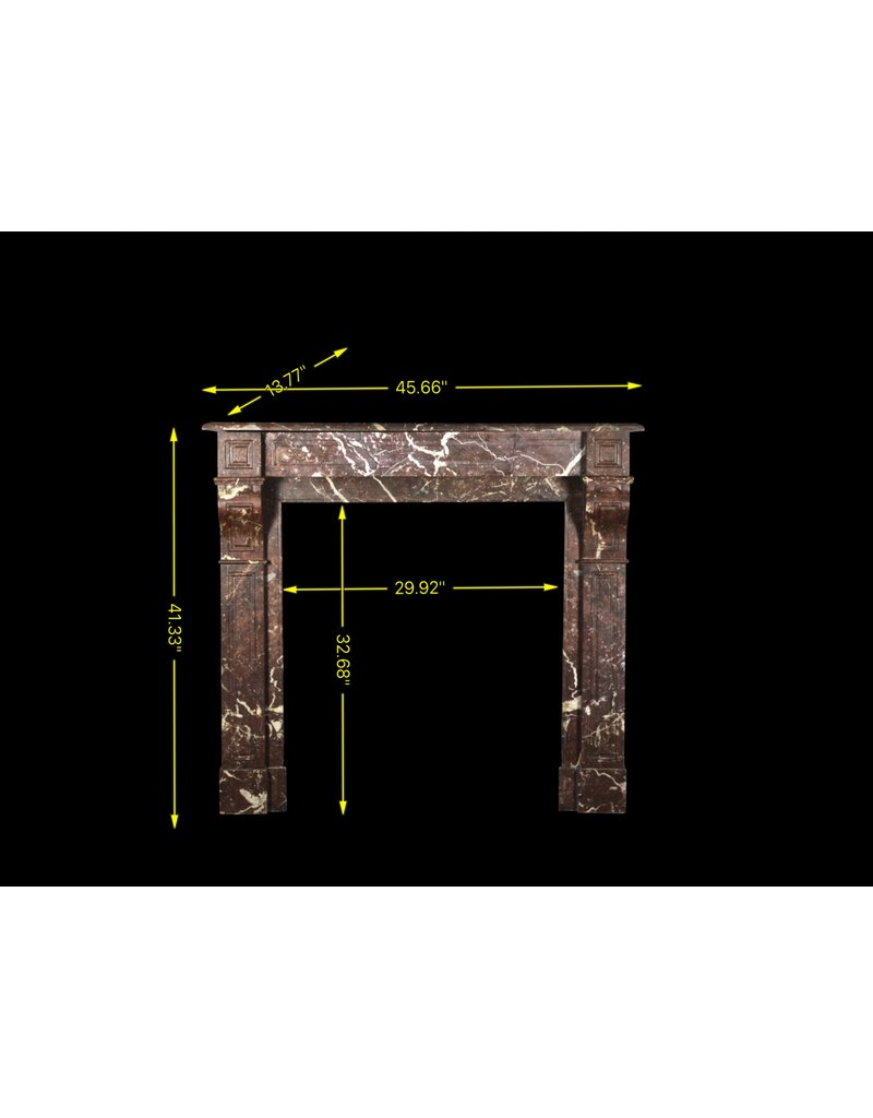 Small Belgian Antique Fireplace Surround In Brown Marble The Antique Fireplace Bank