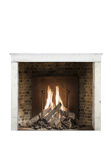 The Antique Fireplace Bank Gradlinigen Französisch Rustic Glänzend Kalkstein Kamin Verkleidung