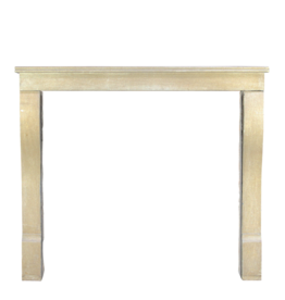 Small Vintage Classic French Hard Limestone Fireplace Surround