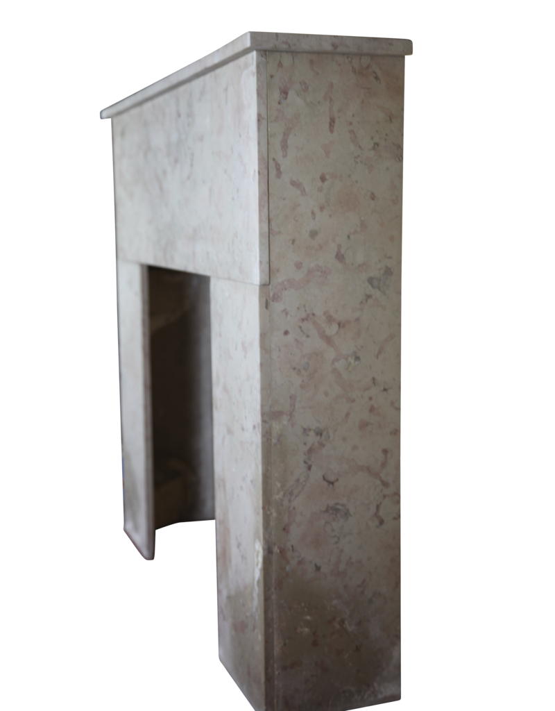 French 20Th Century Comblanchien Stone Rustic Fireplace Surround