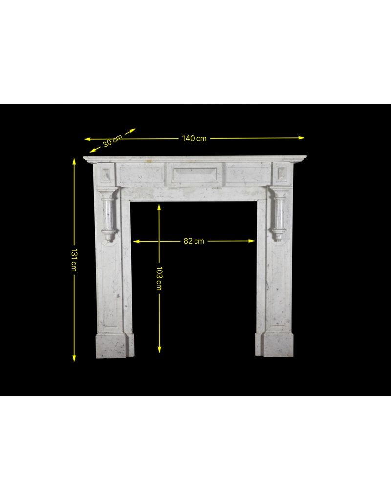 Typical Belgian Simple Fireplace Surround