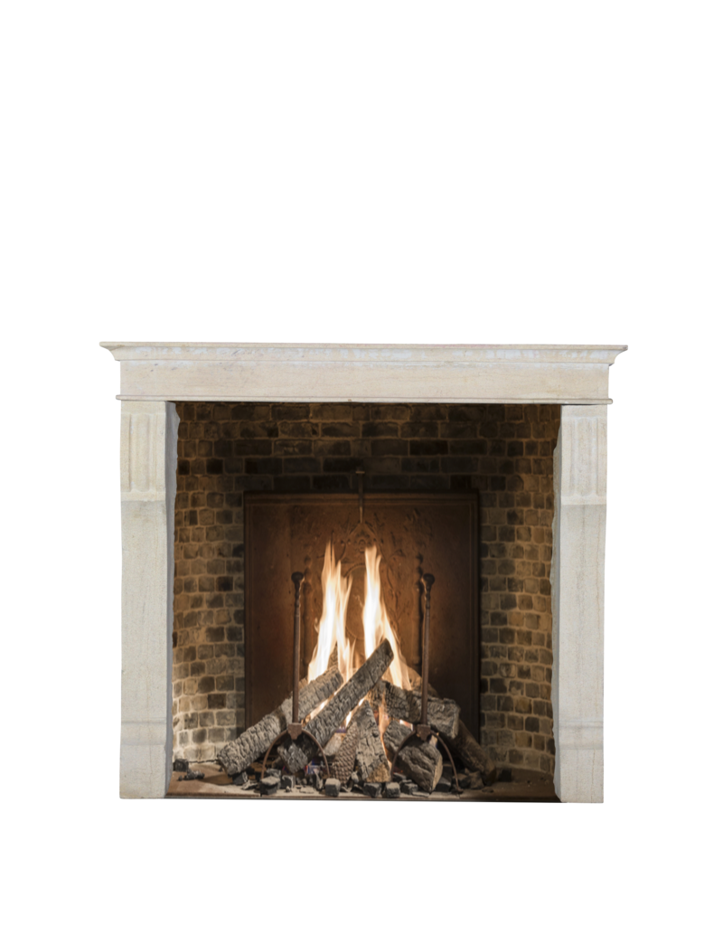 Small European Fireplace Surround In Stone For Timeless Interiors