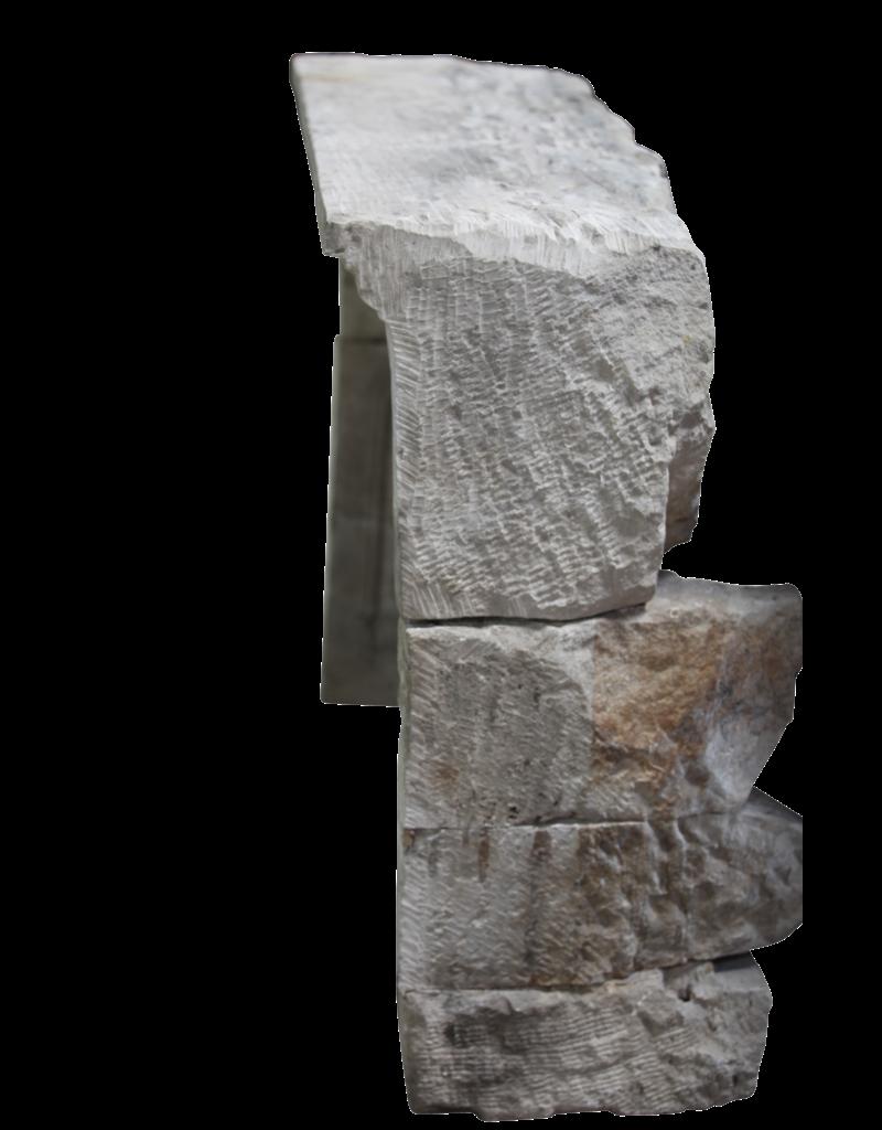 18. Jahrhundert Periode Französisch Landstil Kalkstein Kamin Innen