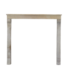 19Th Century Rustic High French Limestone Fireplace Surround
