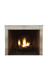 Small European Fireplace Surround In Limestone For Timeless Modern Interior Concept