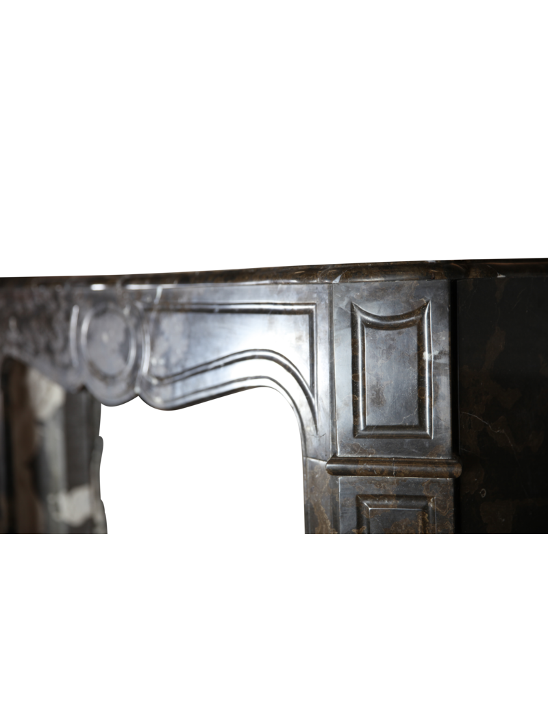 Clásica Francesa Campagnard Pompadour Antiguo Chimenea