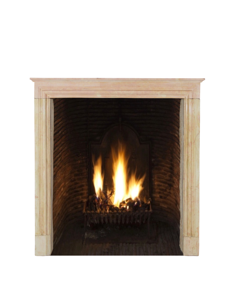 The Antique Fireplace Bank Elegant Rose Liseron Stone Surround For Timeless Chique Interior