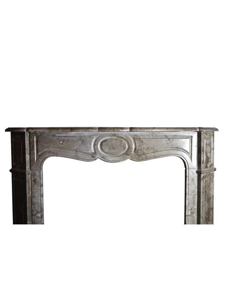 Small Vintage French Pompadour Fireplace Mantle