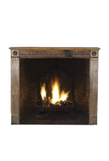 Small Rustic Wooden Fireplace Surround