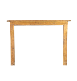 19Th Century French Country Oak Wood Fireplace Surround
