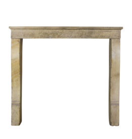 Rustic And Small French Stone Fireplace Mantle
