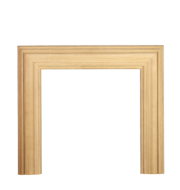 An Square Oak Bolection Fireplace Surround