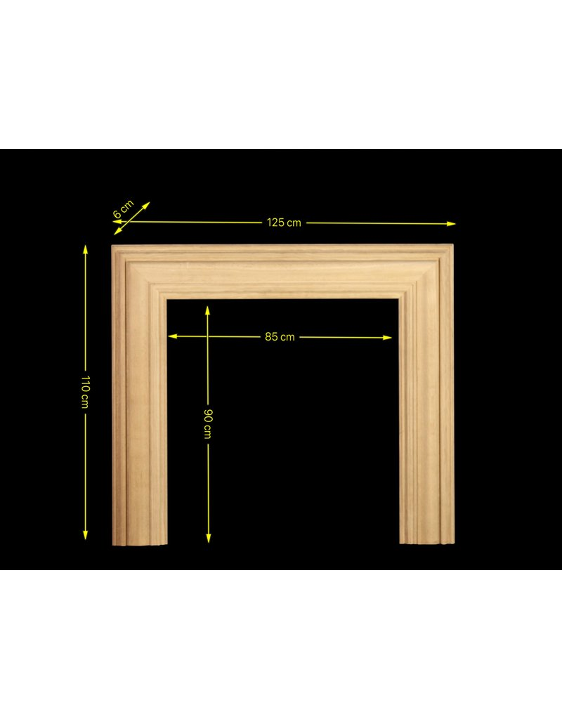 The Antique Fireplace Bank Oak Bolection For Square Firebox