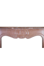 Red Buxy French Marble Stone Small Fireplace Surround