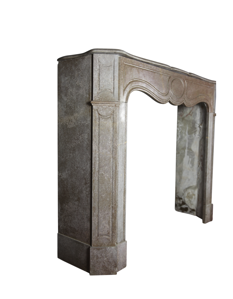 Brown Buxy French Marble Small Fireplace Surround