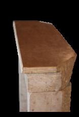 Vintage Pequeña Piedra Caliza Francesa Chimenea
