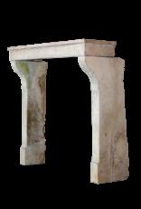Kleines Französisch Landstil Jahrgang Kaminmaske In Multi Color Kalkstein