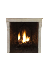 High French Rustic Mantle In Multi Color Limestone