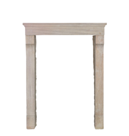 Petite French Limestone Fireplace Mantle
