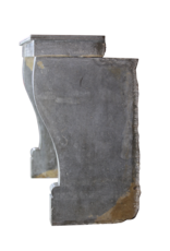 Francés Antiguo Chimenea De Piedra Bicolor