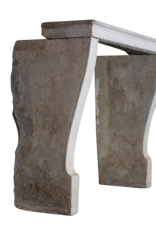 Feines Französisch Landstil Kalkstein Antike Kaminmaske